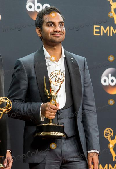 Aziz Ansari Photo - 18 September 2016 - Los Angeles California - Aziz Ansari 68th Annual Primetime Emmy Awards held at Microsoft Theater Photo Credit AdMedia