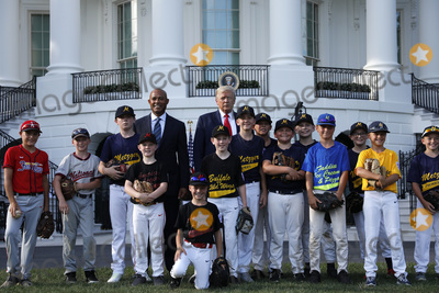 Mariano Rivera Photo - United States President Donald J Trump poses for a group photo with Mariano Rivera and young players to mark the Opening Day of the Major League Baseball Season on the South Lawn of the White House in Washington on July 23 2020 Credit Yuri Gripas  Pool via CNPAdMedia