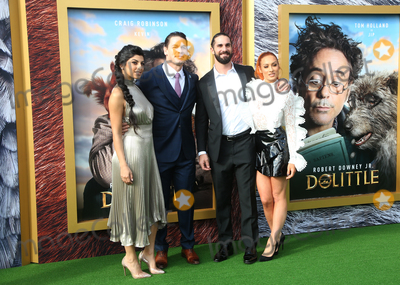 Shay Photo - 11 January 2020 - Westwood California - Shay Shariatzadeh John Cena Seth Rollins and Becky Lynch the premiere of Universal Pictures Dolittle held at the Regency Village Theatre Photo Credit FSAdMedia