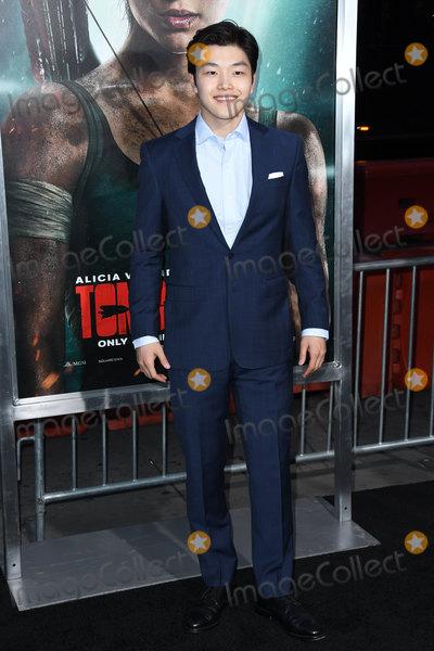 Alex Shibutani Photo - 12 March 2018 - Hollywood California - Alex Shibutani Tomb Raider Los Angeles Premiere held at TCL Chinese Theatre Photo Credit Birdie ThompsonAdMedia