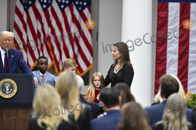 The Unit Photo - President Donald Trump announces Amy Coney Barrett 48 as his nominee for Associate Justice of the Supreme Court of the United States during a ceremony in the Rose Garden at The White House in Washington DC Saturday September 26 2020Credit Rod Lamkey  Consolidated News PhotosAdMedia