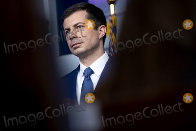 White House Photo - Pete Buttigieg US secretary of transportation speaks during a news conference in the James S Brady Press Briefing Room at the White House in Washington DC US on Friday April 9 2021 The US is expected to almost triple its wind and solar capacity over the next 10 years but that still wont be enough to meet President Bidens goal of fully decarbonizing the countrys power system by 2035 Credit Stefani Reynolds  Pool via CNPAdMedia