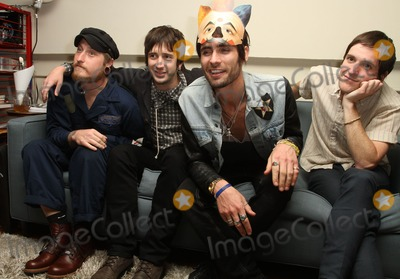 All-American Rejects Photo - 26 March 2012 - Los Angeles California - Chris Gaylor Nck Wheeler Tyson Ritter and Mike Kennerty of the All-American Rejects The All American Rejects Record Release Party For New Album Kids In The Street Held At The iam8bit gallery Photo Credit Faye SadouAdMedia
