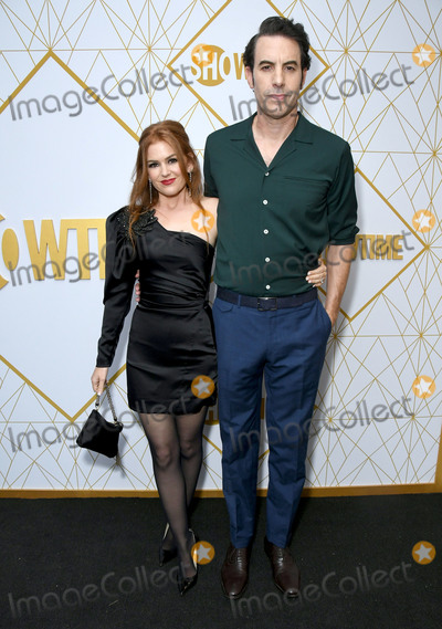 Sacha Baron Cohen Photo - 21 September 2019 - West Hollywood California - Isla Fisher Sacha Baron Cohen 2019 Showtime Emmy Eve Celebration held at Poolside at The San Vincente Bungalows Photo Credit Birdie ThompsonAdMedia