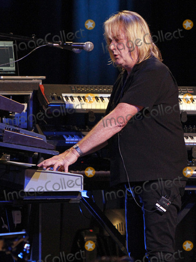 Emerson Lake  Palmer Photo - November 19 2012 - Atlanta GA - Supergroup Asia made a stop at the Variety Playhouse in the Little Five Points district of Atlanta GA where they performed their hits as well as material from more recent albums for the sold-out crowd Made up of John Wetton (former bassistvocalist of such bands as King Crimson Roxy Music and Uriah Heep) Steve Howe (guitarist of Yes) Geoff Downes (keyboardist of Yes and The Buggles) and drummer Carl Palmer (of Emerson Lake  Palmer The Crazy World of Arthur Brown and Atomic Rooster) Asia kept the crowd on their feet dancing along to the well-known songs Photo credit Dan HarrAdMedia