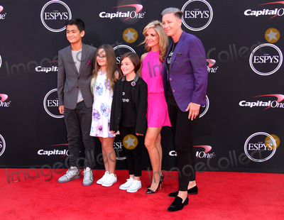 Abby Wambach Photo - 12 July 2017 - Los Angeles California - Abby Wambach with spouce Glennon Doyle Melton and family 2017 ESPYS Awards Arrivals held at the Microsoft Theatre in Los Angeles Photo Credit AdMedia