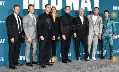 Aaron Eckhart Photo - 05 November 2019 - Westwood California - Aaron Eckhart Patrick Wilson Ed Skrein Mandy Moore Luke Kleintank Roland Emmerich Luke Evans Nick Jonas Midway Los Angeles Premiere held at Regency Village Theater Photo Credit Birdie ThompsonAdMedia