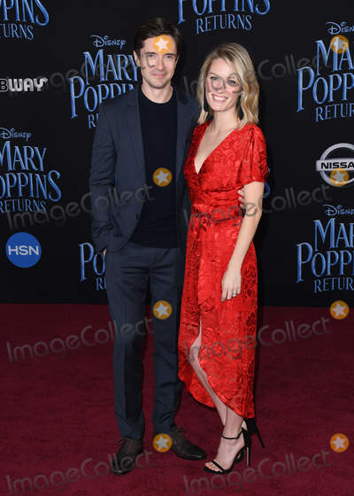 Ashley Hinshaw Photo - 29 November 2018 - Hollywood California - Topher Grace Ashley Hinshaw Mary Poppins Returns Los Angeles Premiere held at The Dolby Theatre Photo Credit Birdie ThompsonAdMedia