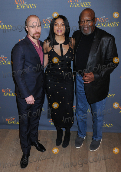 Taraji P Henson Photo - 17 March 2019 - New York New York - Sam Rockwell Taraji P Henson and Bill Riddick at The Best of Enemies New York Photo Call presented by STX Films at the Whitby Hotel in Midtown Photo Credit LJ FotosAdMedia
