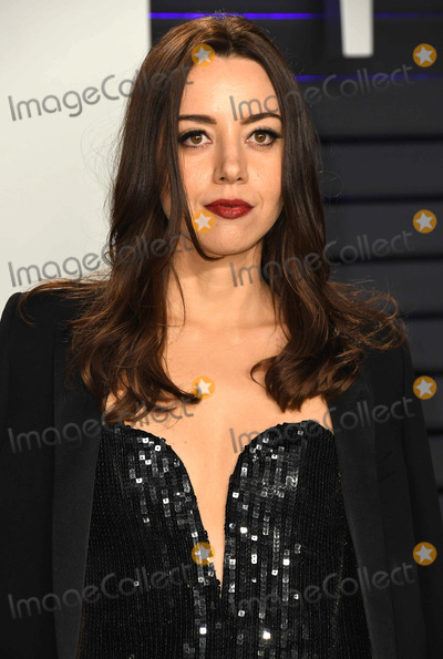 Aubrey Plaza Photo - 24 February 2019 - Los Angeles California - Aubrey Plaza 2019 Vanity Fair Oscar Party following the 91st Academy Awards held at the Wallis Annenberg Center for the Performing Arts Photo Credit Birdie ThompsonAdMedia