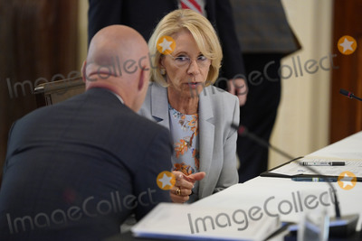 Devo Photo - United States Secretary of Education Betsy DeVos attends the American Workforce Policy Advisory Board Meeting at the White House in Washington DC on Friday June 26 2020 Credit Chris Kleponis  Pool via CNPAdMedia