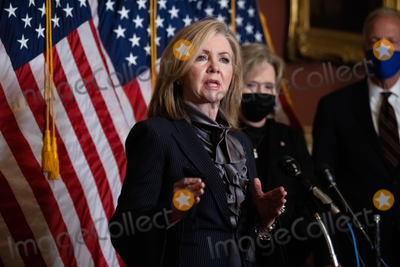 Supremes Photo - Senator Marsha Blackburn R-TN speaks during a press conference after President Trumps Supreme Court nominee Judge Amy Coney Barrett was confirmed by the Senate as the 115th justice to the Supreme Court on Capitol Hill Monday October 26th 2020AdMedia