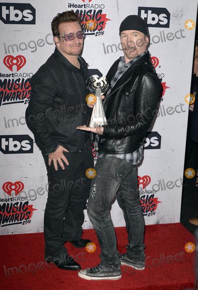 U 2 Photo - 03 April 2016 - Inglewood California - Bono The Edge of U2 iHeartRadio Music Awards held at The Forum Photo Credit Koi SojerAdMedia