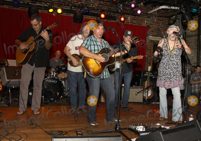 Bekka Bramlett Photo - July 26 2011 - Nashville TN - (l-r) Vince Gill Sam Bush John Oates Guthrie Trapp and Bekka Bramlett Artists musicians and songwriters came together at Mercy Lounge to help raise funds for Pete Huttlinger a widely respected guitarist and Nashville studio artist  Huttlinger has a congenital heart disease and is in need of a heart transplant Photo credit Dan HarrAdmedia