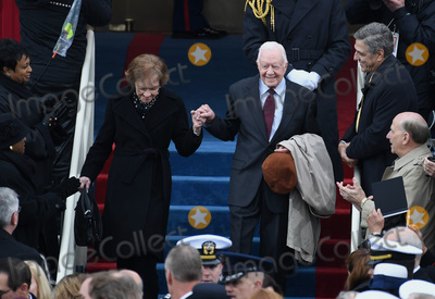 Jimmy Carter Photo - Former President Jimmy Carter and wife Rosalynn walk down the steps during the Inauguration Ceremony of President Donald Trump on the West Front of the US Capitol on January 20 2017 in Washington DC  Trump became the 45th President of the United States Photo Credit Pat BenicCNPAdMedia