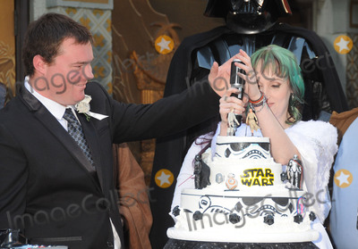 Caroline Ritter Photo - 17 December 2015 - Hollywood California - Andrew Porters Caroline Ritter Fans Get Married With Star Wars Themed Wedding held at the TCL Chinese Theatre IMAX Photo Credit Byron PurvisAdMedia