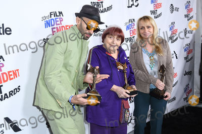 Agns Varda Photo - 03 March 2018 - Santa Monica California - Agnes Varda 2018 Film Independent Spirit Awards - Press Room held at the Santa Monica Pier Photo Credit Birdie ThompsonAdMedia