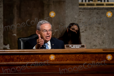 Foreigner Photo - United States Senator Bob Menendez (Democrat of New Jersey) Ranking Member US Senate Committee on Foreign Relations speaks during at a Senate Committee on Foreign Relations hearing on US Policy in the Middle East on Capitol Hill in Washington DC on September 24 2020 Credit Erin Schaff  Pool via CNPAdMedia