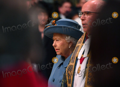 Elizabeth II Photo - 09032020 - Queen Elizabeth II and and The Very Reverend Dr David Hoyle Dean of Westminster Commonwealth Day 2020 Service at Westminster Abbey in London Photo Credit ALPRAdMedia