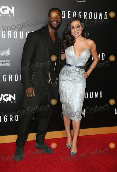 Aldis Hodge Photo - 28 February 2017 - Westwood California - Aldis Hodge Jurnee Smollett-Bell WGN Americas Underground Season 2 Premiereheld at Westwood Village Photo Credit AdMedia