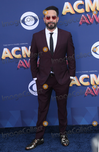 AJ MCLEAN Photo - 15 April 2018 - Las Vegas NV - AJ McLean  2018 ACM Awards Red Carpet arrivals at MGM Grand Garden Arena Photo Credit MJTAdMedia