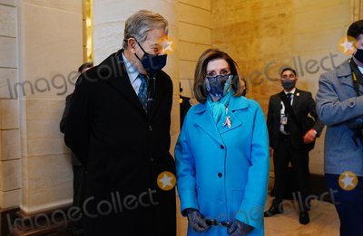 Nancy Pelosi Photo - Speaker of the House Nancy Pelosi (R) before President-elect Joe Biden arrives at the East Front of the US Capitol for his inauguration ceremony to be the 46th President of the United States in Washington DC USA 20 January 2021AdMedia