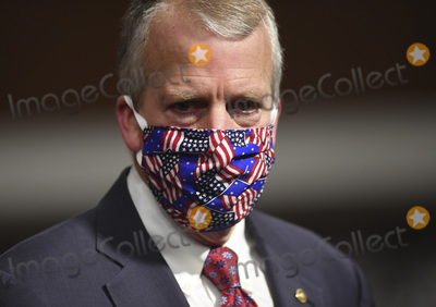 alaska Photo - United States Senator Dan Sullivan (Republican of Alaska) wears a mask during a US Senate Armed Services hearing on Capitol Hill in Washington DC on Thursday May 7 2020  The hearing was held to examine the nominations of Braithwaite to be Secretary of the Navy Anderson to be a Deputy Under Secretary and Brown Jr to be Chief of Staff US Air Force  Credit Kevin Dietsch  Pool via CNPAdMedia