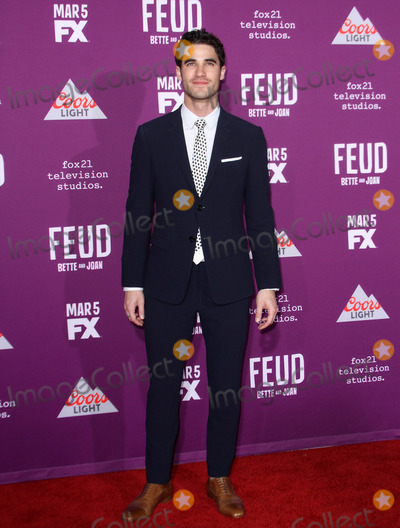 Graumans Chinese Theatre Photo - 1 March 2017 - Los Angeles California - Darren Criss FXs Feud Bette and Joan Premiere held at the Graumans Chinese Theatre Photo Credit AdMedia
