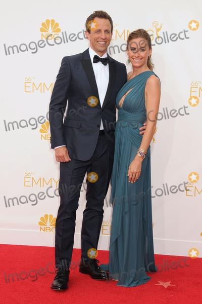 Alexi Ashe Photo - 25 August 2014 - Los Angeles California - Seth Meyers Alexi Ashe 66th Annual Primetime Emmy Awards - Arrivals held at Nokia Theatre LA Live Photo Credit Byron PurvisAdMedia