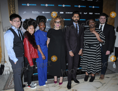 YES Photo - 16 April 2019 - New York New York - Wei Ye Ng Faith Mora Deborah Miller Ruth E Carter Hasan Minhaj Osa Adv and Gabe Fanelli at the REEL WORKS Benefit Gala at Capitale in Chinatown Photo Credit LJ FotosAdMedia