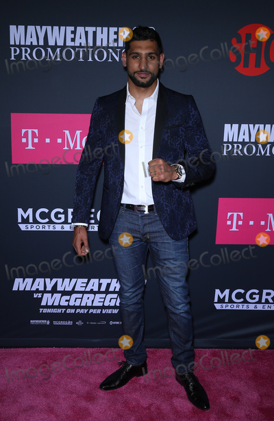 Amir Khan Photo - 26 August 2017 - Las Vegas NV -  Amir Khan  Mayweather vs McGregor pre-fight VIP Red Carpet at T-Mobile Arena Credit mjtAdMedia