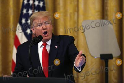 Benjamin Netanyahu Photo - United States President Donald J Trump speaks as he meets with Israels Prime Minister Benjamin Netanyahu in the East Room of the White House in Washington DCon Tuesday January 28 2020 Credit Joshua Lott  CNPAdMedia