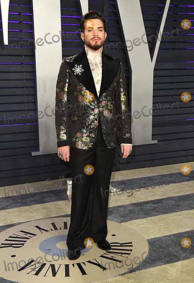 Adam Lambert Photo - 24 February 2019 - Los Angeles California - Adam Lambert 2019 Vanity Fair Oscar Party following the 91st Academy Awards held at the Wallis Annenberg Center for the Performing Arts Photo Credit Birdie ThompsonAdMedia