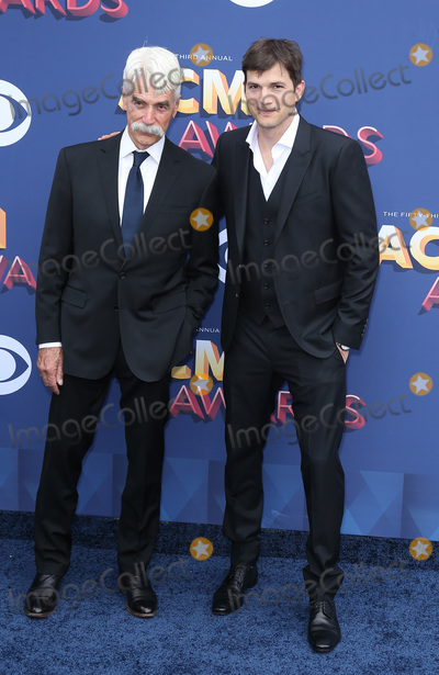 Ashton Kutcher Photo - 15 April 2018 - Las Vegas NV -  Sam Elliott Ashton Kutcher  2018 ACM Awards Red Carpet arrivals at MGM Grand Garden Arena Photo Credit MJTAdMedia