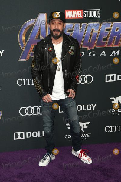 AJ MCLEAN Photo - 22 April 2019 - Los Angeles California - AJ McLean Marvel Studios Avengers Endgame Los Angeles Premiere held at Los Angeles Convention Center Photo Credit F SadouAdMedia