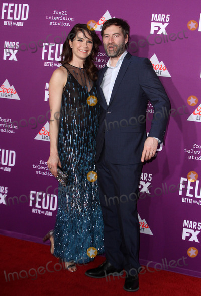 Graumans Chinese Theatre Photo - 1 March 2017 - Los Angeles California - Katie Aselton with husband Mark Duplass FXs Feud Bette and Joan Premiere held at the Graumans Chinese Theatre Photo Credit AdMedia