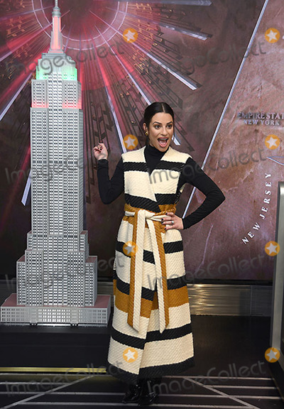 Lna Jam-Pano Photo - 03 December 2019 - New York New York - Lea Michele at the Empire State Building to celebrate the 2019 Holiday Light Show at the Empire State Building Photo Credit LJ FotosAdMedia