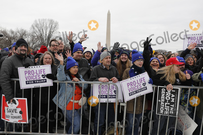 The National Photo - Thousands participants react to remarks by United States President Donald J Trump at the 47th annual March for Life on the National Mall in Washington DC on January 24 2020 Credit Yuri Gripas  Pool via CNPAdMedia