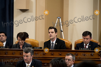 Alabama Photo - United States Representative Matt Gaetz (Republican of Florida) center speaks during a public impeachment inquiry hearing with the US House Judiciary Committee on Capitol Hill in Washington DC on December 9th 2019 At right is US Representative Martha Roby (Republican of Alabama) and at left is US Representative Mike Johnson (Republican of Louisiana)Credit Anna Moneymaker  Pool via CNPAdMedia