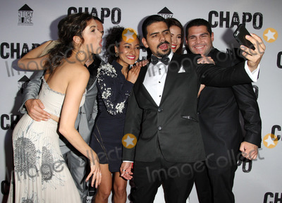 Alejandro Aguilar Photo - 19 April 2017 - Los Angeles California - Abril Schreiber Juan Carlos Olivas Tete Espinoza Alejandro Aguilar Juliette Pardau and Marco De La O Univisions El Chapo Original Series Premiere Event held at The Landmark Theatre Photo Credit AdMedia