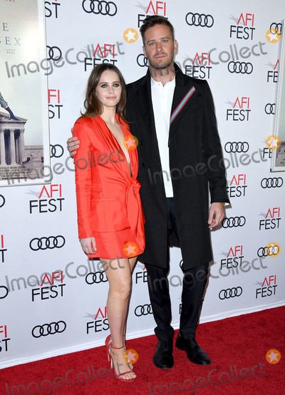Armie Hammer Photo - 08 November 2018 - Hollywood California - Felicity Jones Armie Hammer  AFI FEST 2018 Presented By Audi - Opening Night World Premiere Gala Screening Of On The Basis Of Sex held at TCL Chinese Theater Photo Credit Birdie ThompsonAdMedia