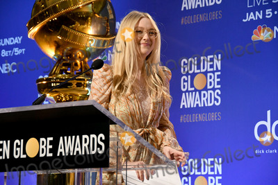Dakota Fanning Photo - 09 December 2019 - Beverly Hills California - Dakota Fanning 77th Annual Golden Globe Nominations held at Beverly Hilton Hotel Photo Credit Birdie ThompsonAdMedia
