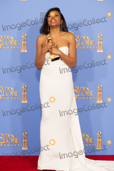 Taraji Henson Photo - After winning the category of BEST PERFORMANCE BY AN ACTRESS IN A TELEVISION SERIES  DRAMA for her role in Empire actress Taraji Henson poses backstage in the press room with her Golden Globe Award at the 73rd Annual Golden Globe Awards at the Beverly Hilton in Beverly Hills CA on Sunday January 10 2016 Photo Credit HFPAAdMedia