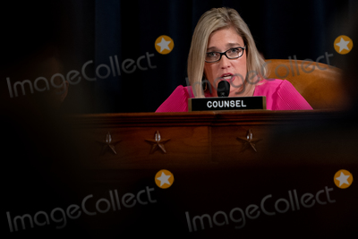 Hurts Photo - Ashley Hurt Callen Republican staff counsel speaks during a US House Judiciary Committee hearing considering articles of impeachment against US President Donald J Trump on Capitol Hill in Washington DC on December 9 2019 Credit Erin Schaff  Pool via CNPAdMedia
