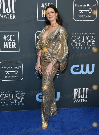 Ann Hathaway Photo - 12 January 2020 - Santa Monica California - Anne Hathaway 25th Annual Criticis Choice Awards held at Barker Hangar Photo Credit Birdie ThompsonAdMedia