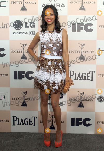 Zoe Saldana Photo - 26 February 2011 - Santa Monica California - Zoe Saldana 2011 Film Independent Spirit Awards held at the Santa Monica Pier Photo Kevan BrooksAdMedia
