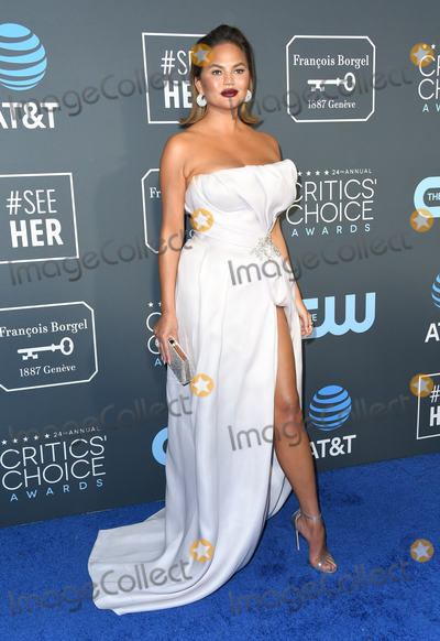 Chrissy Teigen Photo - 13 January 2019 - Santa Monica California - Chrissy Teigen The 24th Annual Critics Choice Awards held at Barker Hangar Photo Credit Birdie ThompsonAdMedia