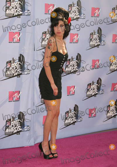 Amy Winehouse Photo - 23 July 2011 - London  England - English singersongwriter Amy Winehouse was found dead in her London home on July 23 2011 She was 27 Winehouses 2006 album Back to Black was nominated for six GRAMMY awards of which she won five including Record of the Year File Photo 03 June 2007 - Universal City California - Amy Winehouse 2007 MTV Movie Awards held at the Gibson Amphitheater Photo Credit Russ ElliotAdMedia