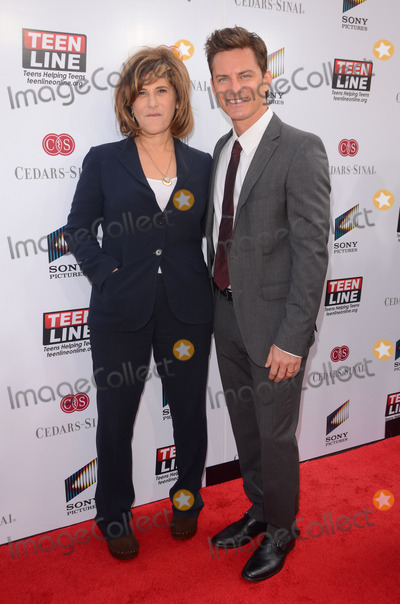 Amy Pascal Photo - 07 May 2014 - Culver City California - Amy Pascal Brandon Johnson TEEN LINE 2014 Food for Thought luncheon held at Sony Pictures Studios in Culver City Ca Photo Credit Birdie ThompsonAdMedia