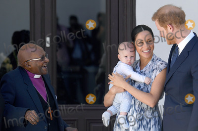 Archbishop Desmond Tutu Photo - Prince Harry Duke of Sussex Meghan Markle Duchess of Sussex and son Archie Harrison Mountbatten-Windsor with Archbishop Desmond Tutu during a visit to the Desmond  Leah Tutu Legacy Foundation in Cape Town South Africa Photo Credit ALPRAdMedia